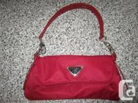 AUTHENTIC RED PRADA PURSE  If you love purses and