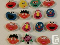 Mixed Set of 15 Sesame Street shoe charms for Crocs or