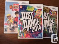 Set of 12 Wii Games for Kids. Excellent condition.