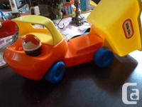Set of 2 Little Tikes Trucks NO SMALL PIECES 1. Fire