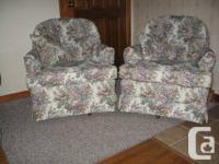 For sale: a beautiful set of 2 Swivel Rocker chairs -