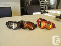 Set of 3 Ski or Snowboard Goggles -Smith and Scott
