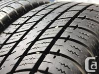 These tires are in good shape They have 80% tread , I