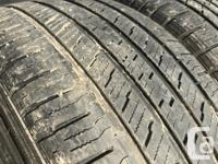 These tires are in good shape They have 70% tread ,