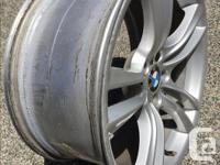 The 20 inch offset rims are off a 7 series BMW and are