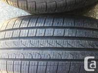 Set of 4 Pirelli All Season tires. Light wear 9/32