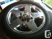 Complete set of 4 tires and wheels off a 2012 Denali HD