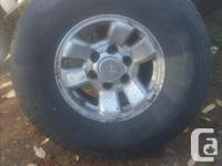 Selling a used set wheels and tires off of a toyota