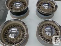 Set of 4 near new Wheelsmith Wire Wheels .Powder coated for sale  British Columbia
