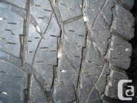 tires are all even wear 55-60 % remaining mounted and