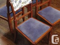 Set of 6 hardwood dining room chairs with capability of