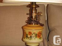 $75 set- shades included. These lamps are china and