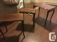 Set of 3 Nesting Tables. Perfect for a hall or a small