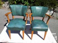 This set of charming and comfy vintage chairs are