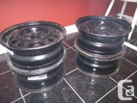 For sale are a set of four steel rims 15x6 4-4.5 (4