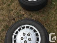 Set of four P20570R1595S M&S on Aluminum Rims, Call  to