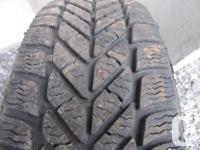 Set of Four P195/65 R15 GoodYear PolyGrip Winter Tires