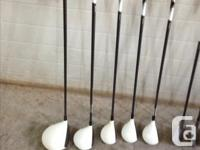 Set includes 10.5° driver, 3 wood 3 , 4 and 5 hybrids.