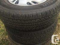 set of 4 tires Laufenn GFIT AS 215/70R15 98T on 5 bolt