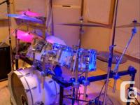For Sale: Seven Piece Tempus drum kit   Used as the