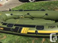 Sevylor Fish Hunter 360 in great condition Inflated