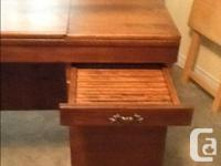 "Solid wood table, excellent condition 34"" wide. 20"""