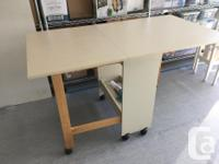 Seeing or craft table. Side flip out to make a large