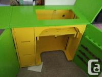 """Selling my sewing table. 31.5""""w x 18""""d x 30""""h. Lots of"""