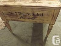 Lovingly refurbished with paint, stencils, wax and