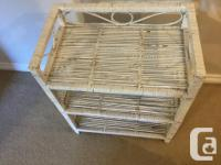 This is a really nice white shabby chic style wicker