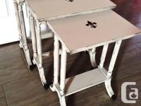 Beautiful Grey Duncan Phyfe Nesting Tables  Beatiful