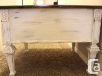 """Solid wood Chalk painted end/accent table 21""""tall"""