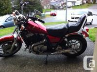 Terrific problem. 750cc Honda Shadow (Red). Brand name