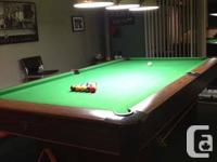 "National Pool Table. 50"" vast X ONE HUNDRED""long, 1""-3"
