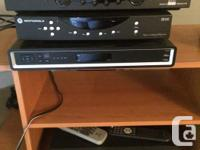 Four Shaw Cable boxes for digital cable. Two are HD.