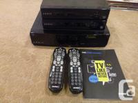2 years old and hardly used. 1 PVR, 2 Separate