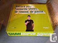 Hi There, We have a Shaw HD PVR for sale. -500GB so a