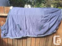 Shedrow West Palm fleece cooler with satin outer that