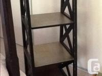 Black with gold medium bookcase. Solid wood and in