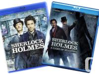 Sherlock Holmes 1&2 BluRay Discs Mint condition.