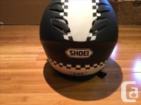 For Sale is a used Shoei Helmet. Helmet is less than 3