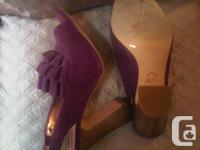 Designer purple suede shoes size 7B  worn once