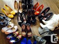 Party shoes and dresses. Rarely wear, in good