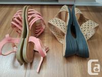 Dust Pink Crisscross-Strap Carmen Sandal size 7 &