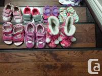 7 pairs of Runner shoes, summer shoes, slippers for