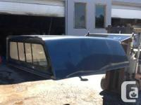 Used cab-hi blue metallic canopy for F250/350 super