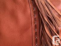 ***Lightly used Grainy leather Western handbag by