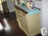 professionally refinished antique buffet. In great