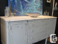Antique Sideboard with Beautiful Lake-House Ambiance