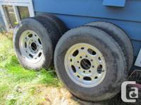 8 hole light weight aluminum wheels and also tires 16